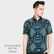 JAYASHREE BATIK Slim Fit Short Sleeve Rakha - Blue