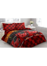 Sprei Bantal 2 Vito Disperse 180x200cm Ferrari - Red
