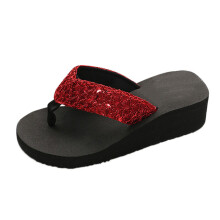BESSKY Women's Summer Sequins Anti-Slip Sandals Slipper Indoor & Outdoor Flip-flops_
