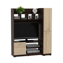 PRISSILIA Jarvis Entertainment Center 120 x 50 x 150 cm American Walnut/Sonoma