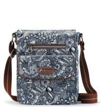 SAKROOTS Small Flap Messenger in Navy Spirit Desert