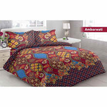 Sprei Bantal 2 Vito Disperse 160x200cm Ambarwati - Brown Brown