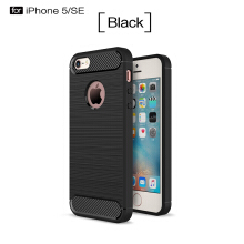 Smatton Case hp Apple iPhone SE Luxury Shockproof Case Carbon Fiber For Soft TPU Full Protect Ultra Thin Case shell