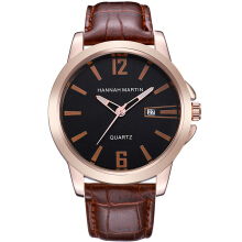 HANNAH MARTIN Men's Leather Strap Watch 1702