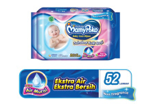 MAMYPOKO Wipes Reguler Non Perfumed Pack - 52's