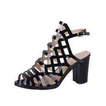 BESSKY Summer Sandals Sexy Gladiator Sandals Peep Toe Shoes Heels Women Ankle Shoes_