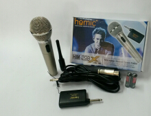 Homic Mikrofon Wireless Single+Kabel HM-298 Silver Silver