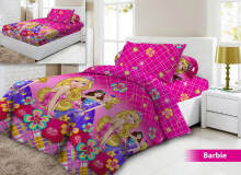 Sprei Vito Single 120x200x20cm Barbie - Pink