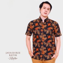 JAYASHREE BATIK Slim Fit Short Sleeve Rafa - Black