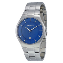 Skagen Grenen Blue Dial Stainless Steel Man Watch [SKW6181]