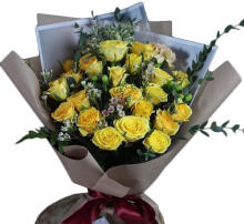 Hand Bouquet Rose Yellow M