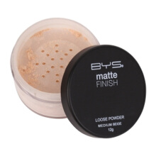 BYS Matte Loose Powder with Puff Medium Beige