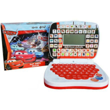 Kaptenstore Mainan Anak Edukasi Laptop Mini 4 bahasa Karakter Cars Warna Merah Red