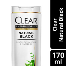 CLEAR Shampoo Natural Black 170ml