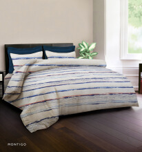 KING RABBIT BEDCOVER DOUBLE Motif Montigo Biru / 230x230cm Blue