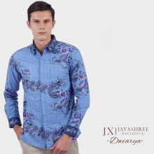JAYASHREE BATIK Exclusive Slim Fit Long Sleeve Dwiarya - Blue