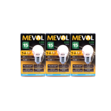 MEVAL Lampu LED  Bulb 5W - Cool Day Light / Putih 3Pcs