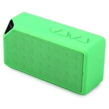 Vinmori Bluetooth Speaker Stereo Mini X3 Wireless Handsfree Loudspeaker With Mic For iPhone Samsung Mp3 PC Support FM TF Green