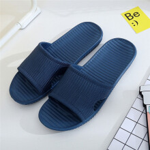 BESSKY Men Stripe Flat Bath Slippers Summer Sandals Indoor & Outdoor Slippers _