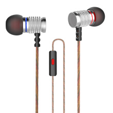 KZ EDR2 Mega Bass In-Ear HiFi Earphones with Microphone Support Handsfree Calls 3.5mm Gold Plated Jack 1.2m Length Cord Silver