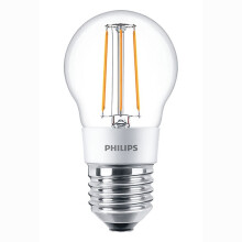 PHILIPS Lampu LED Classic 4,5W P45 - Warm White/Kuning Clear Dimmer