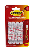 3M Gantungan Serba Guna  Kecil Mini Hook 17006 Command White