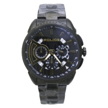 Police Black Dial Stainless Steel Strap Watch [PL.13648MSB/02MB]