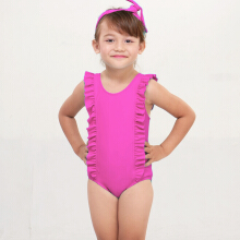 Lee Vierra - Kids Pink Ruffle Border Leotard Pink 4