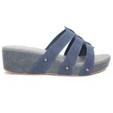 Dr. Kevin Women Wedge Sandals 27373 - Blue