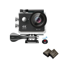Vfocs-H9R 4K Action Camera Wifi Sports Cam + Remote Control Shutter + 3 Batteries Black