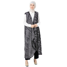 Dian Pelangi Long Cardigan Viscos Batik Abstrak