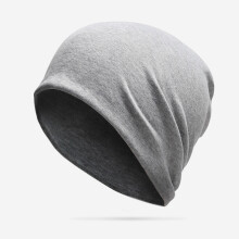 Zanzea 0051Men Women Cotton Beanies Hedging Cap Outdoor Sport Thin Breathable Bonnet Hat Dark Grey