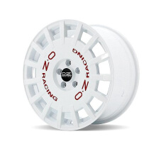 OZ Rally Racing Velg Mobil R19 X 8.5 et 45 - PCD 5 x 108 White + Red Lettering