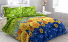 Sprei Bantal 4 Vito Disperse 180x200cm Yellow Roses - Multicolor