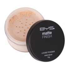BYS Matte Loose Powder with Puff Sand Beige