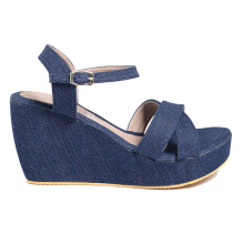 Dr. Kevin Women Wedge Sandals 26127 - Blue