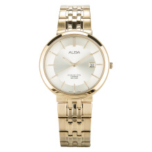 Alba Man Champagne Dial Gold Stainless Steel Watch [AS9D74X1] Gold
