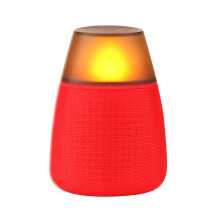 BESSKY LED Bluetooth Speaker Hi-Fi Portable Wireless Stereo Speaker Night light_ Red