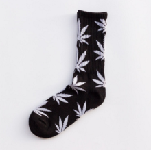 Cool My style CS-15 California skate city Maple leaf socks(about 19cm)-Black