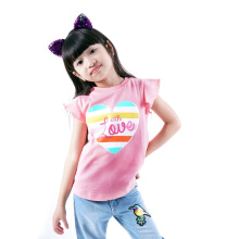 CURLY Printed T-Shirt  Pink - CY1005K017K