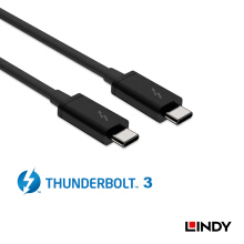LINDY #41556 LINDY Thunderbolt 3 Cable 1m - Black