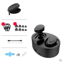Ins AI P77 Mini invisible wireless Bluetooth headset with charging bin For Apple Android phones and IPAD -Black