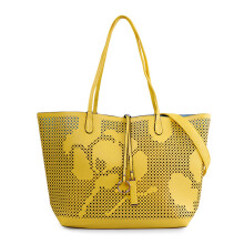 VOITTO Lasercut Tote 9880-2 - Yellow / Blue