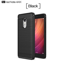 Smatton Case hp Xiaomi Redmi Note 4 Luxury Shockproof Case Carbon Fiber For Soft TPU Full Protect Ultra Thin Case shell