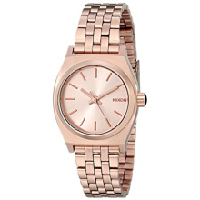 Nixon Small Time Teller Stainless Steel Chain Ladies A399897-1039D27RG Analog Rosegold Others