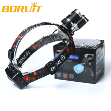 Boruit 6000Lm 3x XML T6 LED Headlamp Headlight Head Torch+2X18650+AC/USB Charger Camping Fishing Cycling Rock Climbing