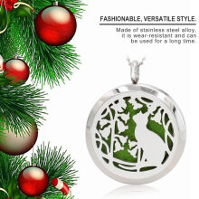 [COZIME] Christmas Gift Stainless Steel Round Pendant Tp021 Silver1