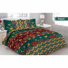 Sprei Bantal 4 Vito Disperse 180x200cm Anjani - Green