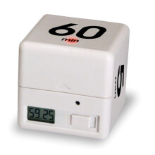 BESSKY Clock Timer Alarm Cube Digital 5, 15, 30, 60 Minutes Time Management White_ White