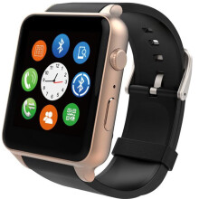 Waterproof GT88 NFC Bluetooth Smart Watch Phone Mate For iphone Sumsung Gold